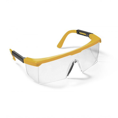 Ecosafe 46 Eyewear Clear Lens Yellow Frame