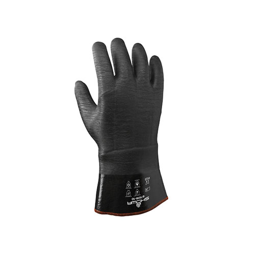 Chemical Resistant Ansell Full Neoprene Coated Cotton Glove
