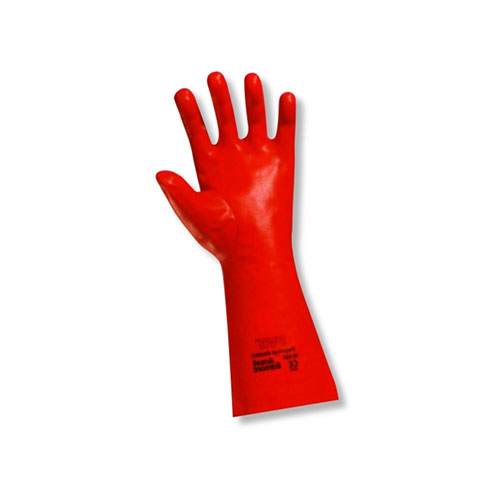 Chemical Resistant Ansell PVA Coated Glove Interlock Knit lined
