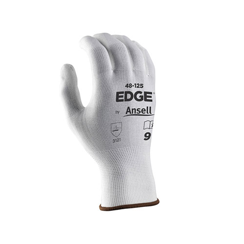 General Use Ansell Edge PU White Gloves