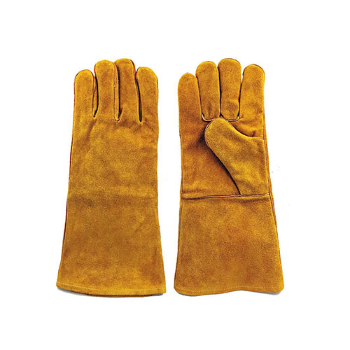 Welding Large Brown Split Leather Gloves