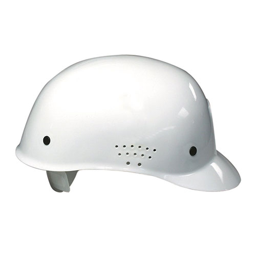 Bump Cap White Pin Lock With Plastic Harness