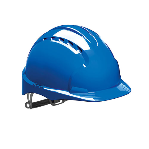 Helmet Blue Vented with Pin Lock Harness