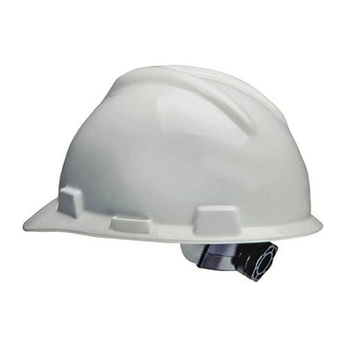 Helmet White 4 Point Ratchet