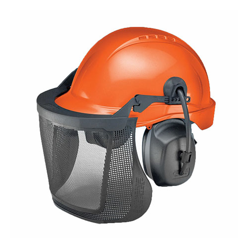 Safety Hardhat with Visor Sheild & Earmuffs