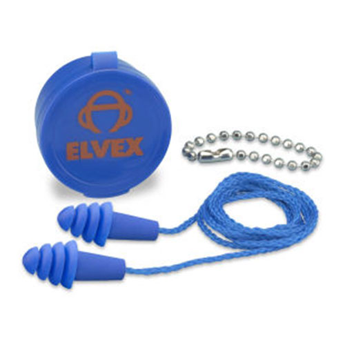 Elvex Reusable Corded EP-412 Ear Plugs with case