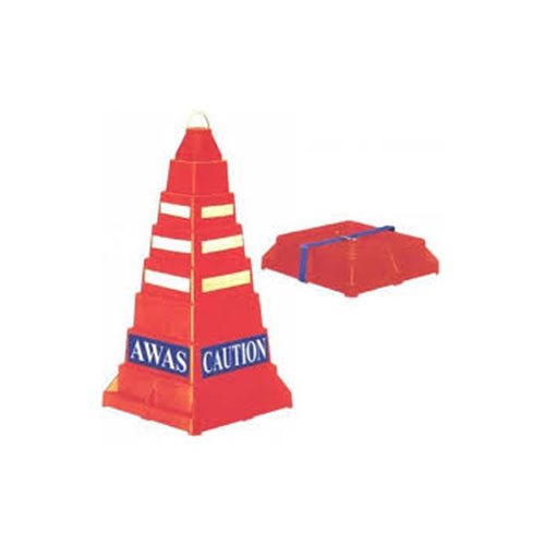 Collapsible square safety cone